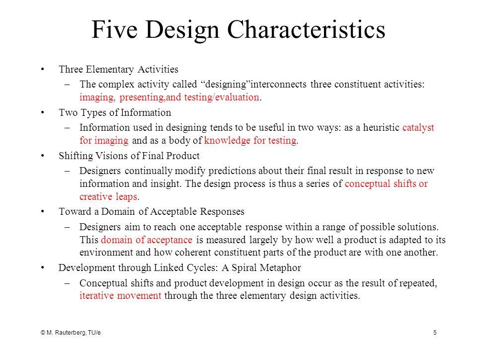 Five Design Characteristics