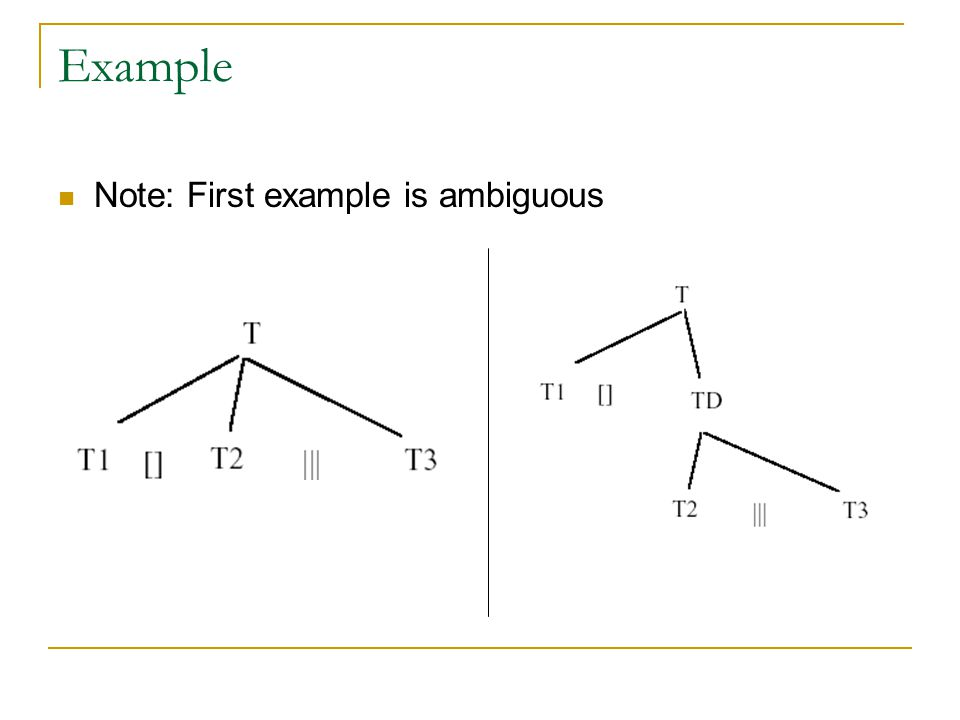 Example Note: First example is ambiguous