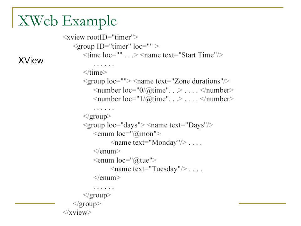 XWeb Example XView