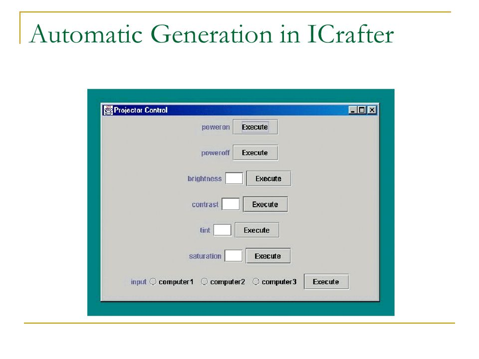 Automatic Generation in ICrafter
