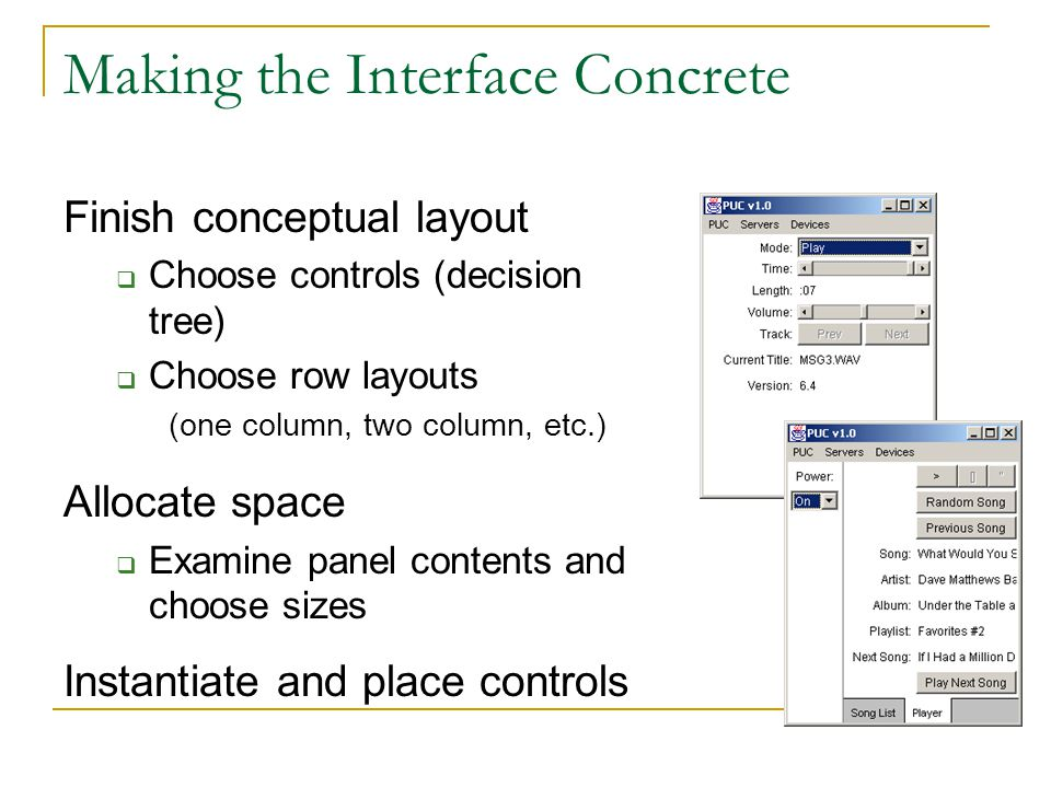 Making the Interface Concrete