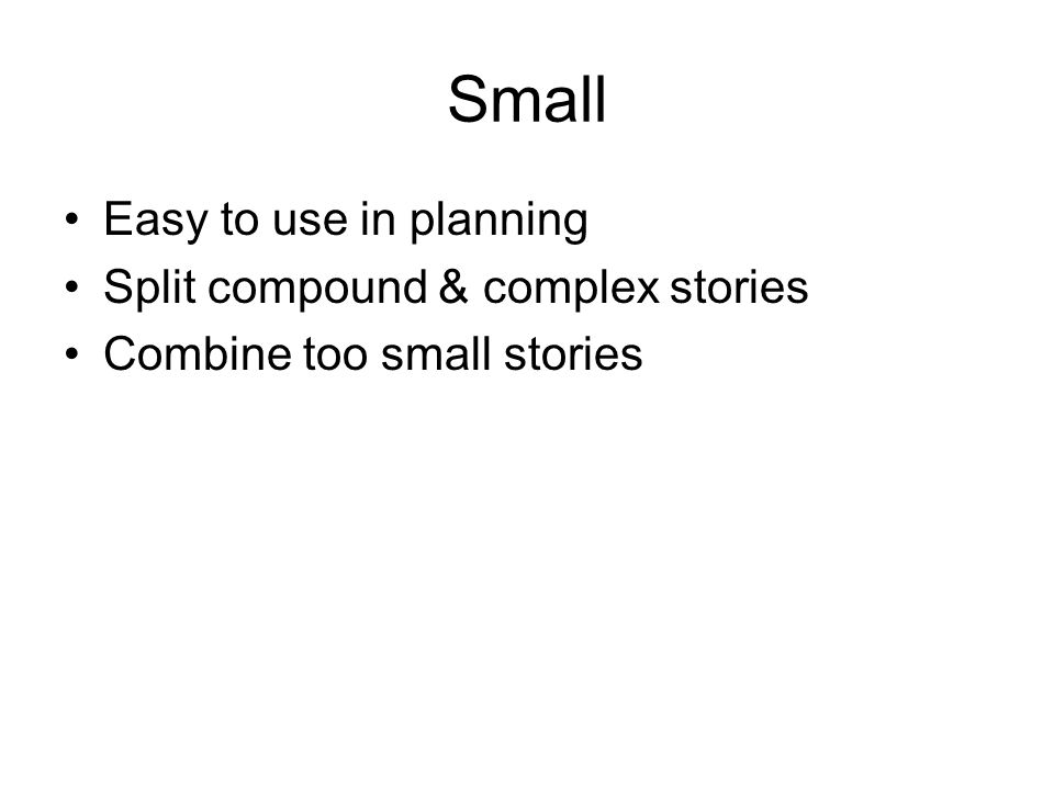 Small Easy to use in planning Split compound & complex stories