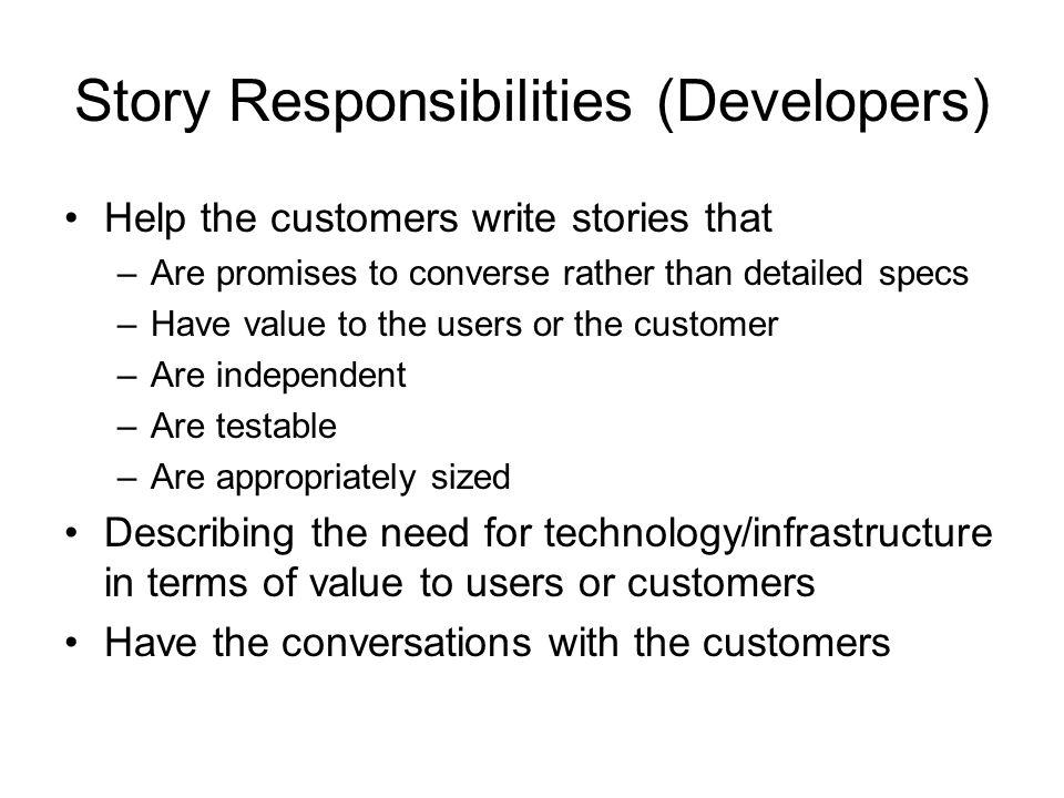 Story Responsibilities (Developers)
