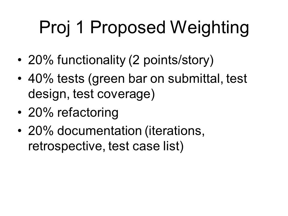 Proj 1 Proposed Weighting
