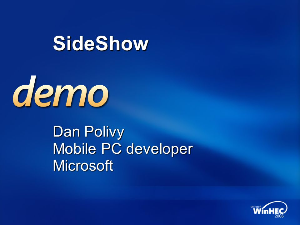 Dan Polivy Mobile PC developer Microsoft