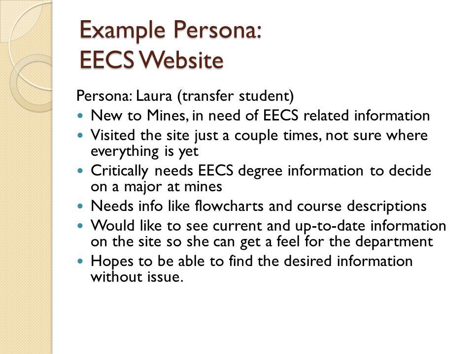 Example Persona: EECS Website