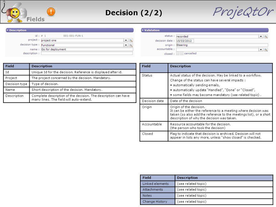 Decision (2/2) Fields 113 113 113 113 Field Description Id