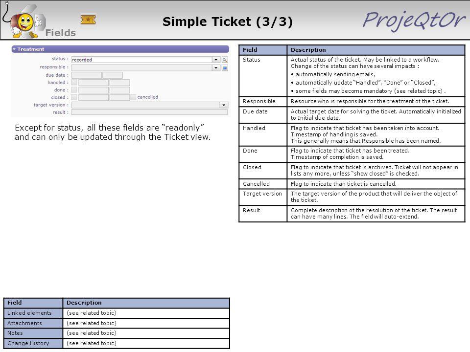 Simple Ticket (3/3) Fields