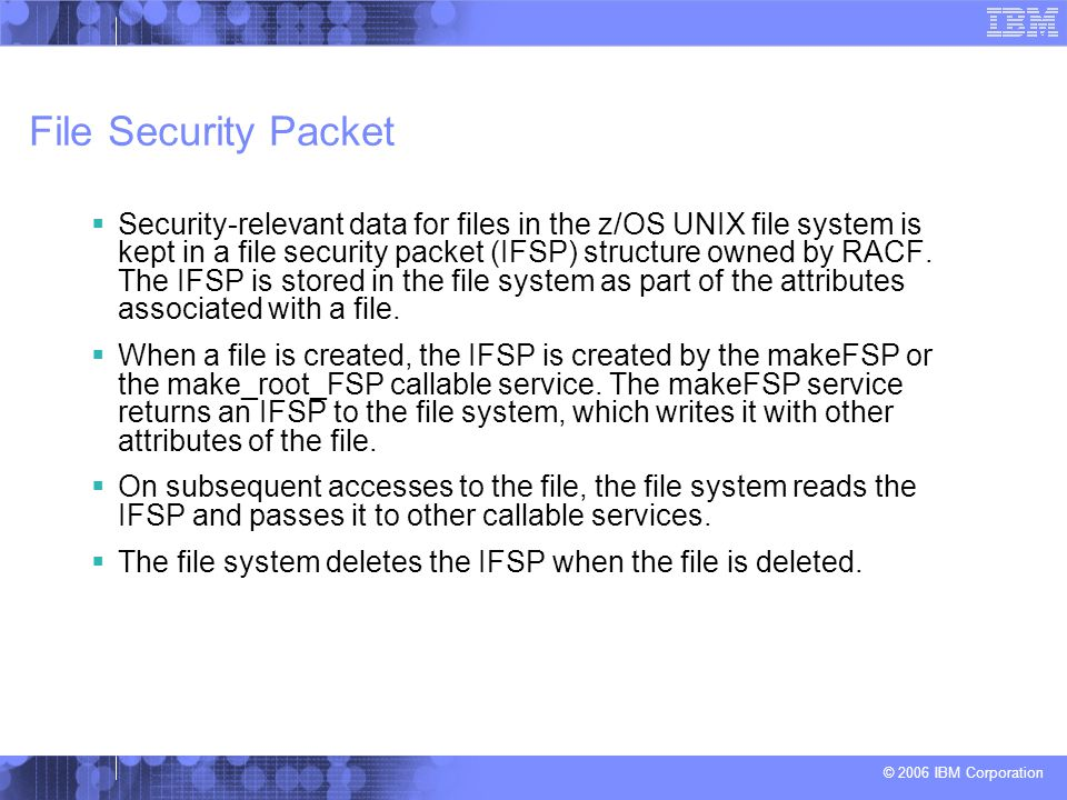 File Security Packet