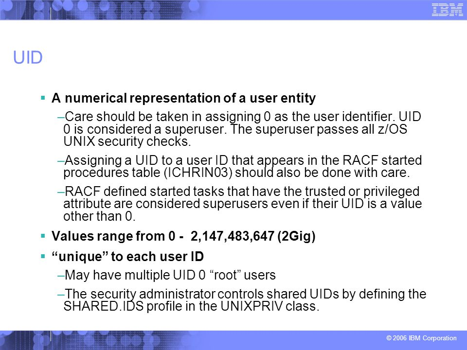 UID A numerical representation of a user entity