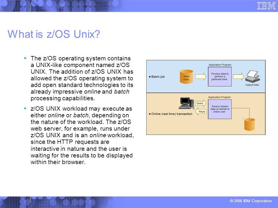 What is z/OS Unix