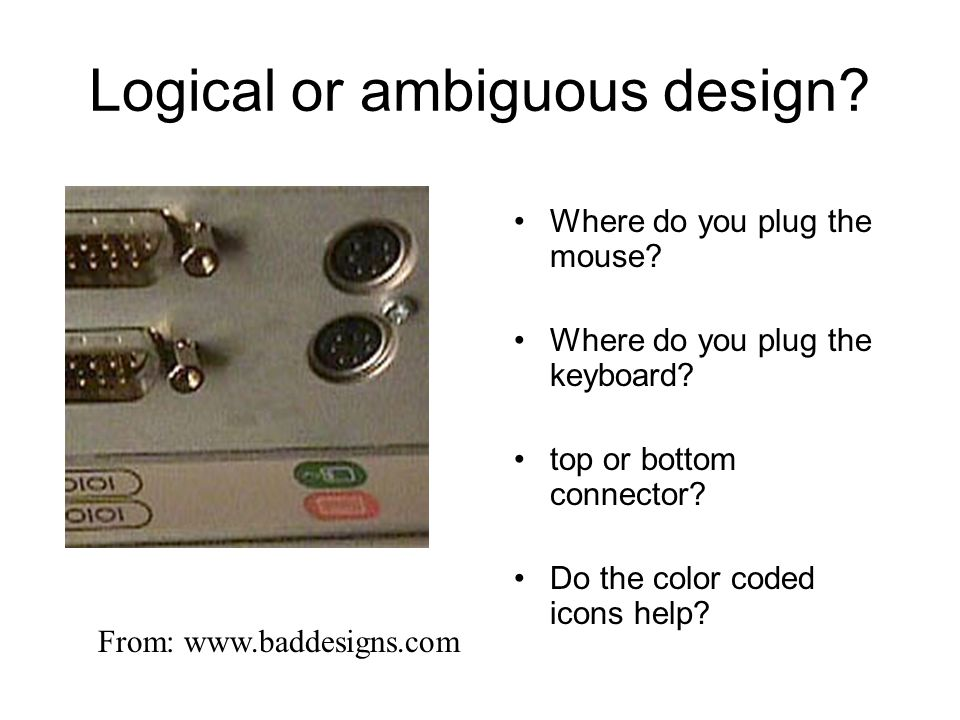 Logical or ambiguous design