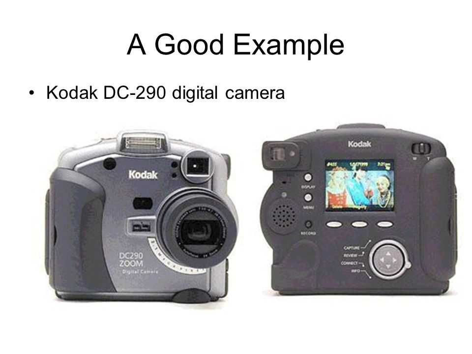A Good Example Kodak DC-290 digital camera