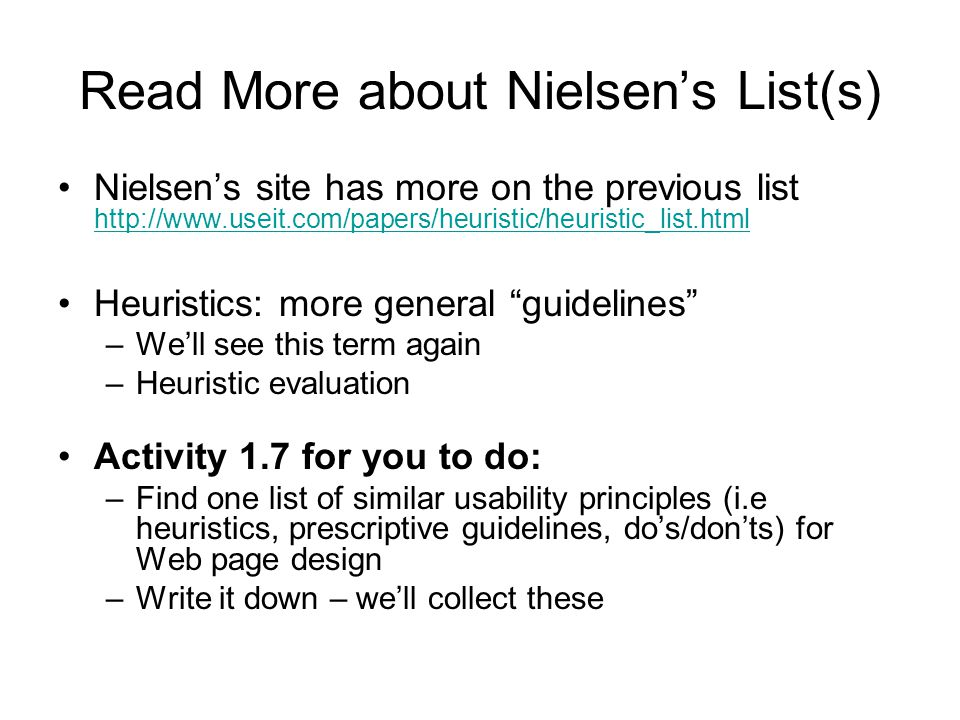 Read More about Nielsen's List(s)