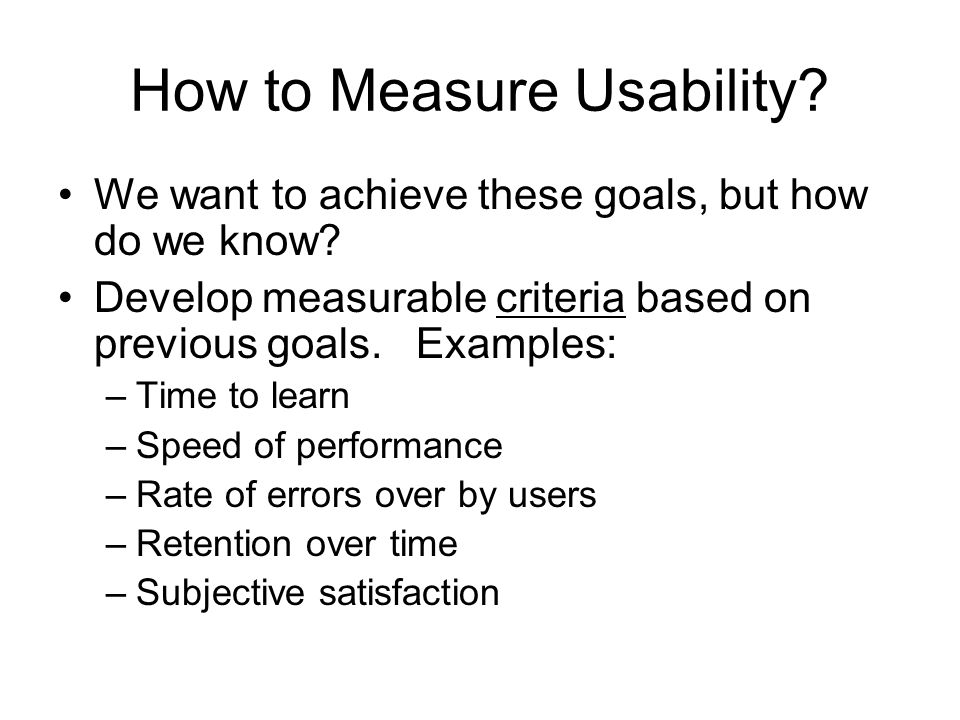 How to Measure Usability