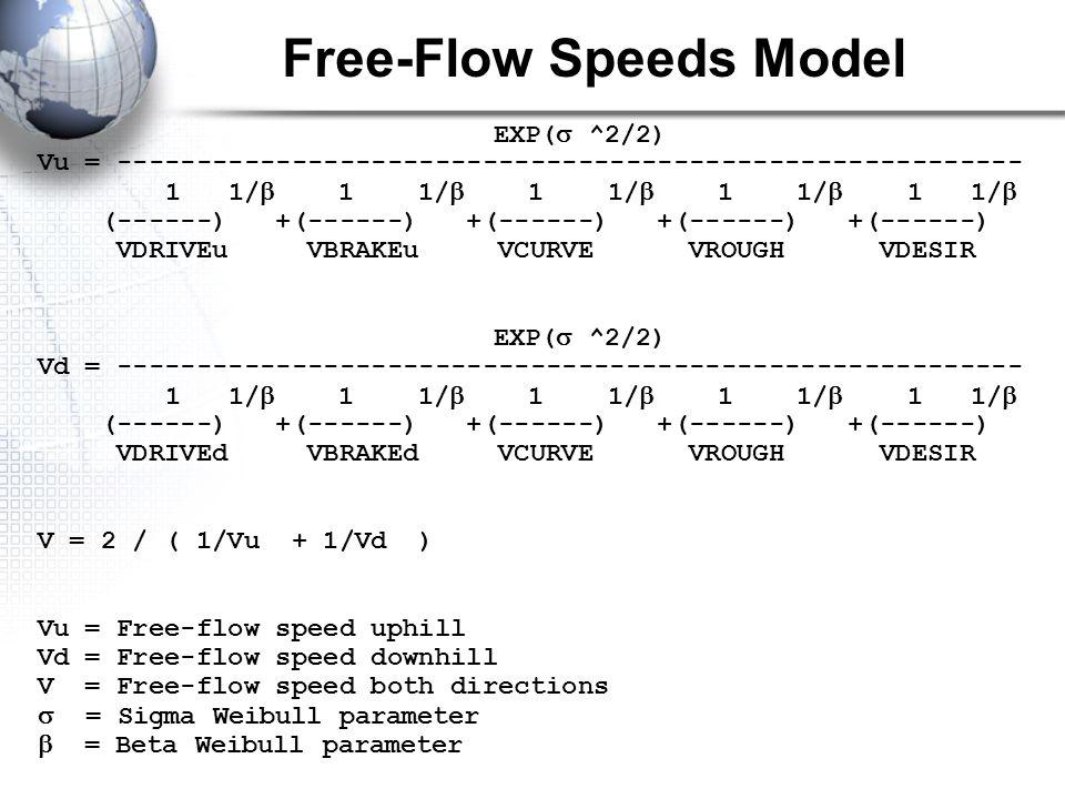 Free-Flow Speeds Model