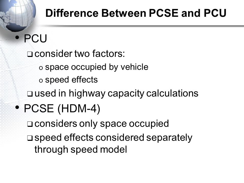 Difference Between PCSE and PCU