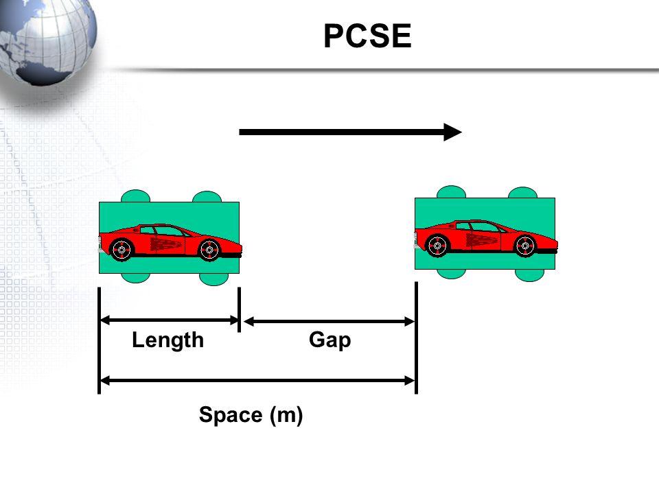 PCSE Length Gap Space (m)