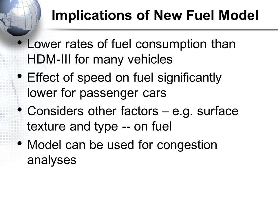 Implications of New Fuel Model