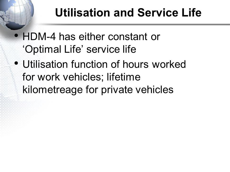 Utilisation and Service Life