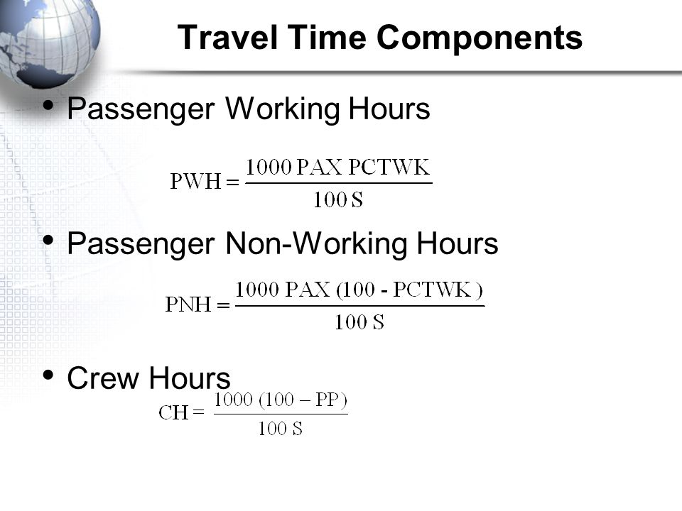 Travel Time Components