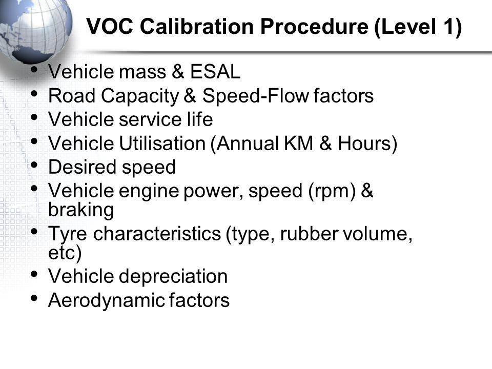 VOC Calibration Procedure (Level 1)