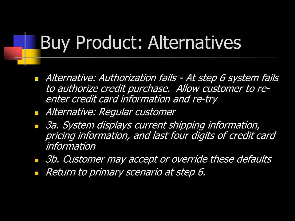 Buy Product: Alternatives