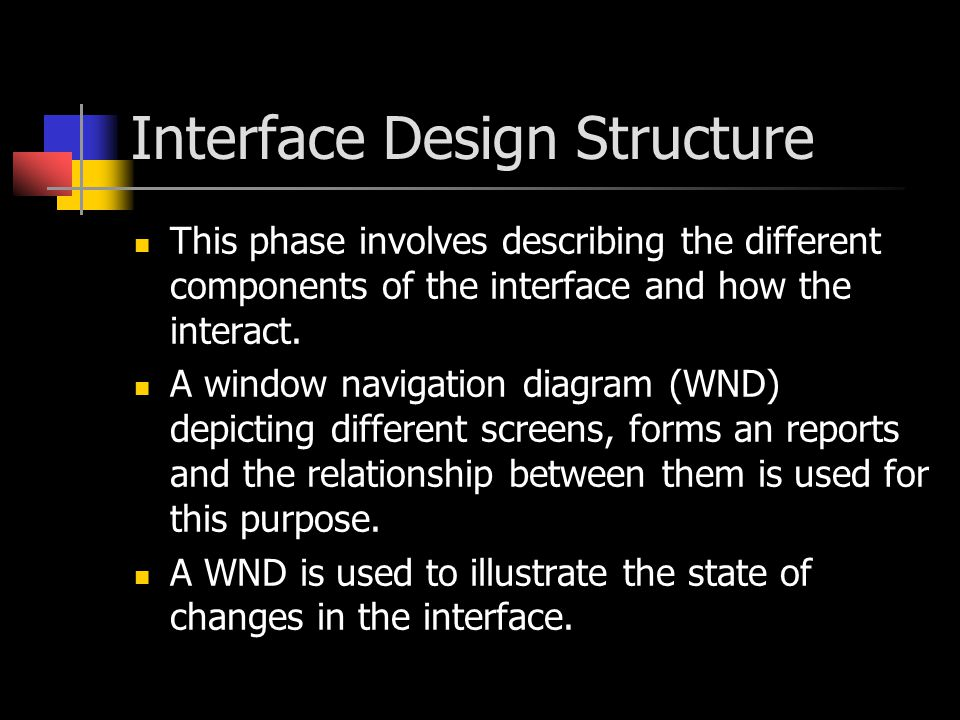 Interface Design Structure