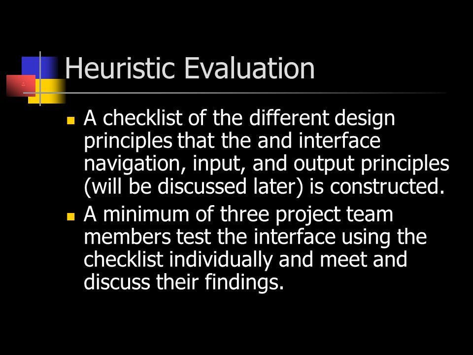 Heuristic Evaluation .