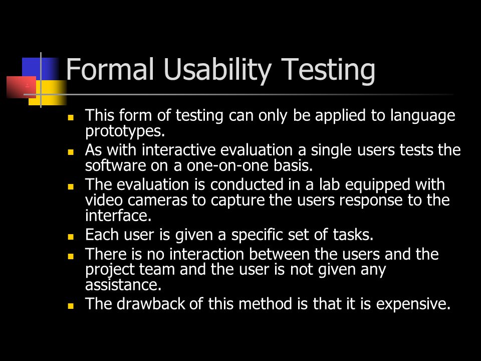 Formal Usability Testing