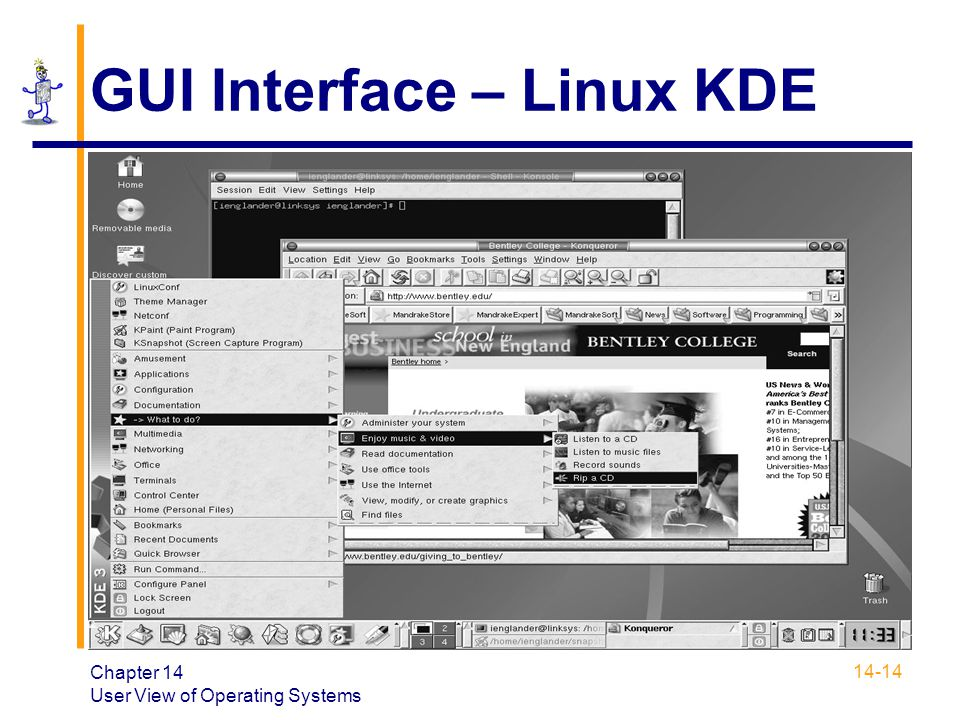 GUI Interface – Linux KDE