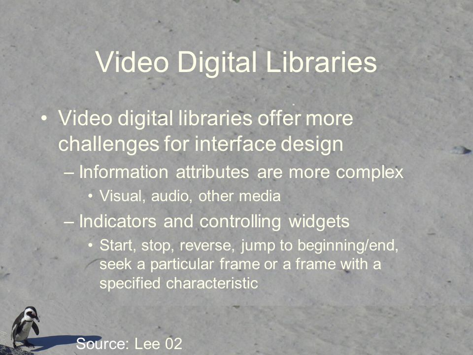 Video Digital Libraries