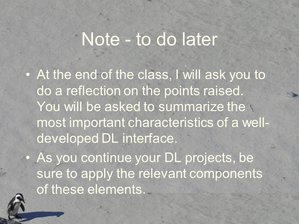 Note - to do later