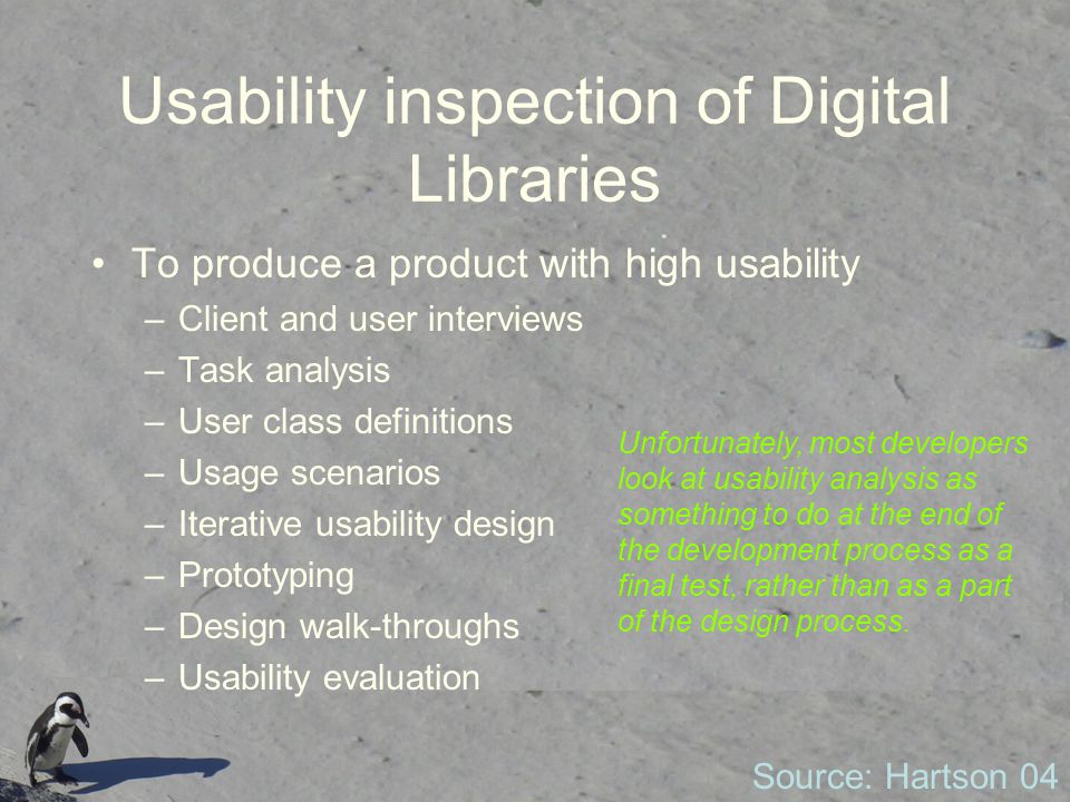 Usability inspection of Digital Libraries