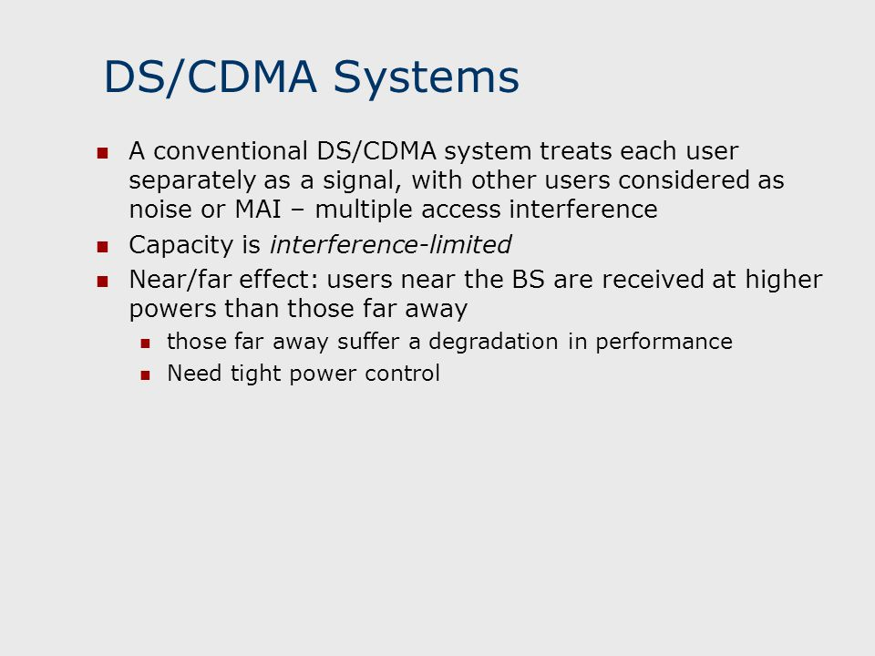 DS/CDMA Systems