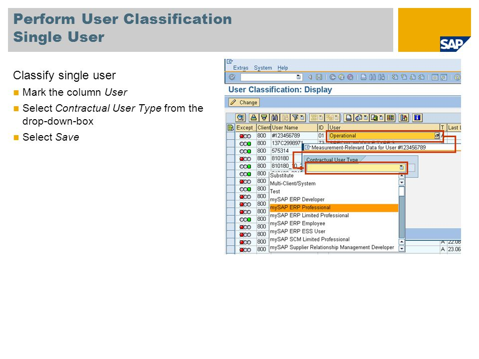 Perform User Classification Single User