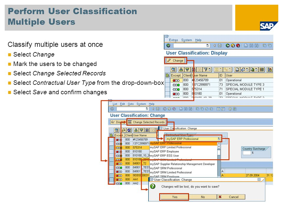 Perform User Classification Multiple Users