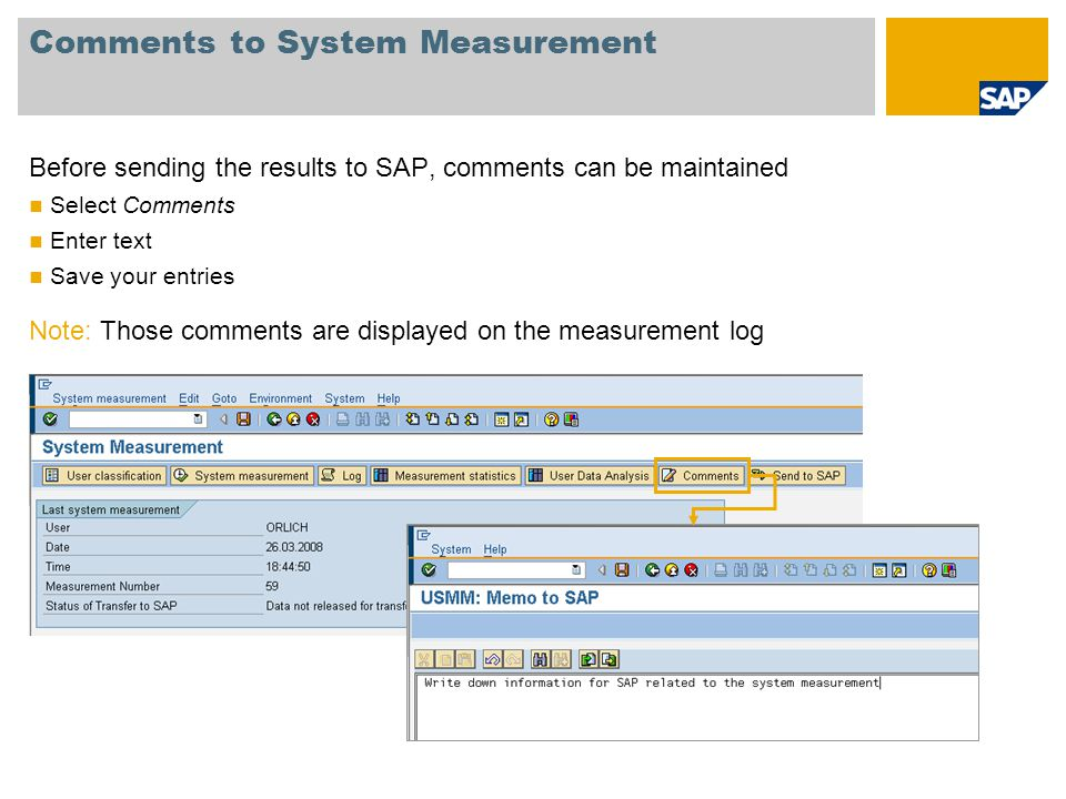 Comments to System Measurement