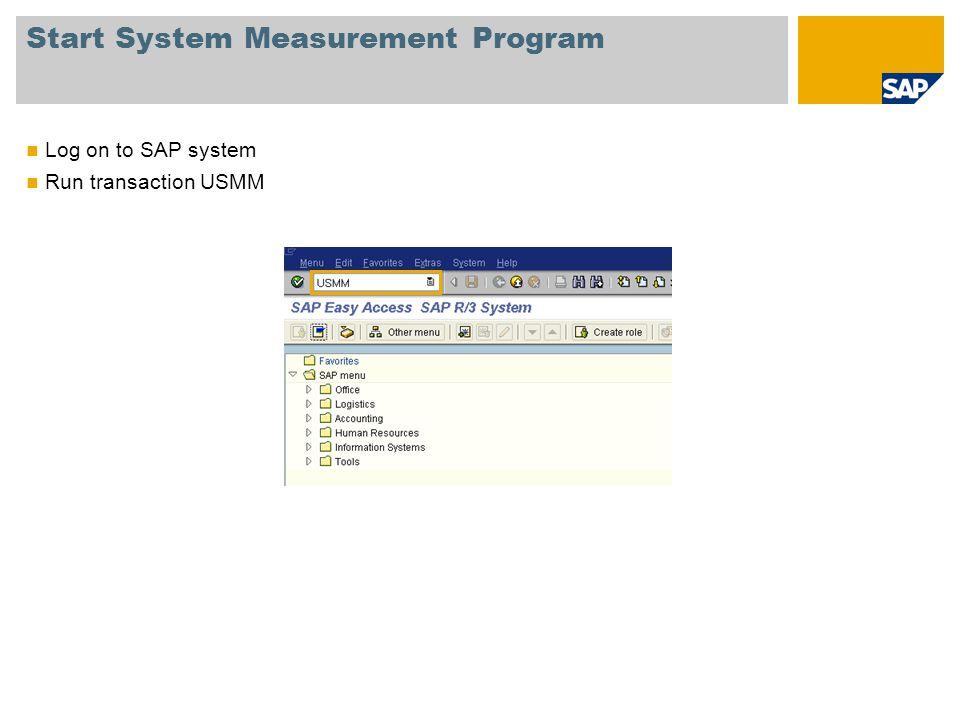 Start System Measurement Program