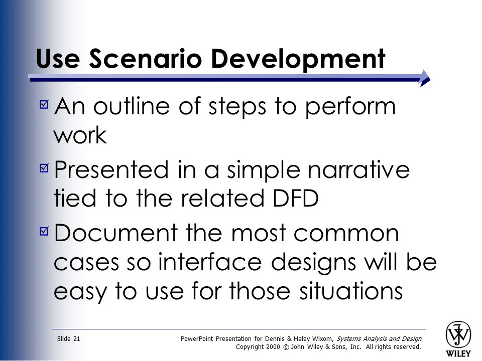 Use Scenario Development