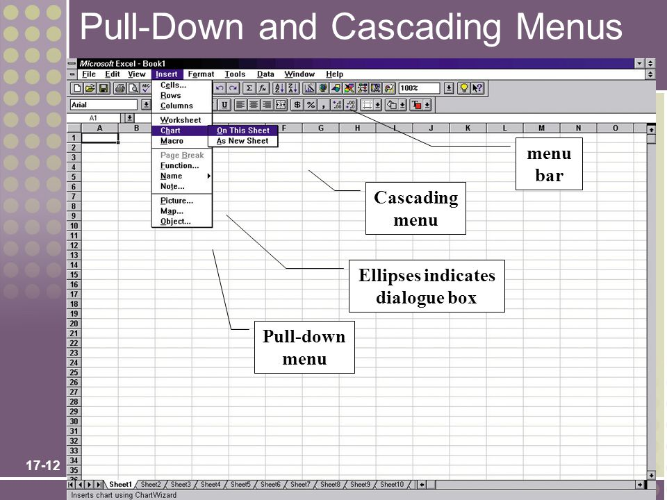 Pull-Down and Cascading Menus