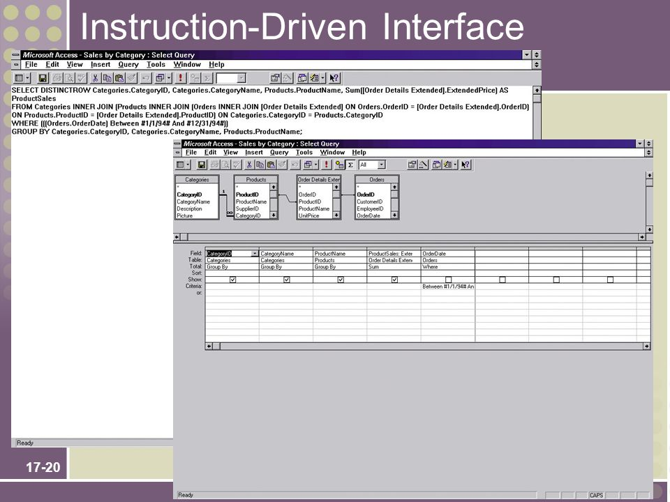 Instruction-Driven Interface