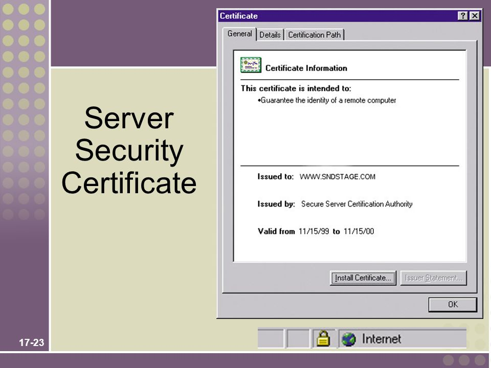 Server Security Certificate