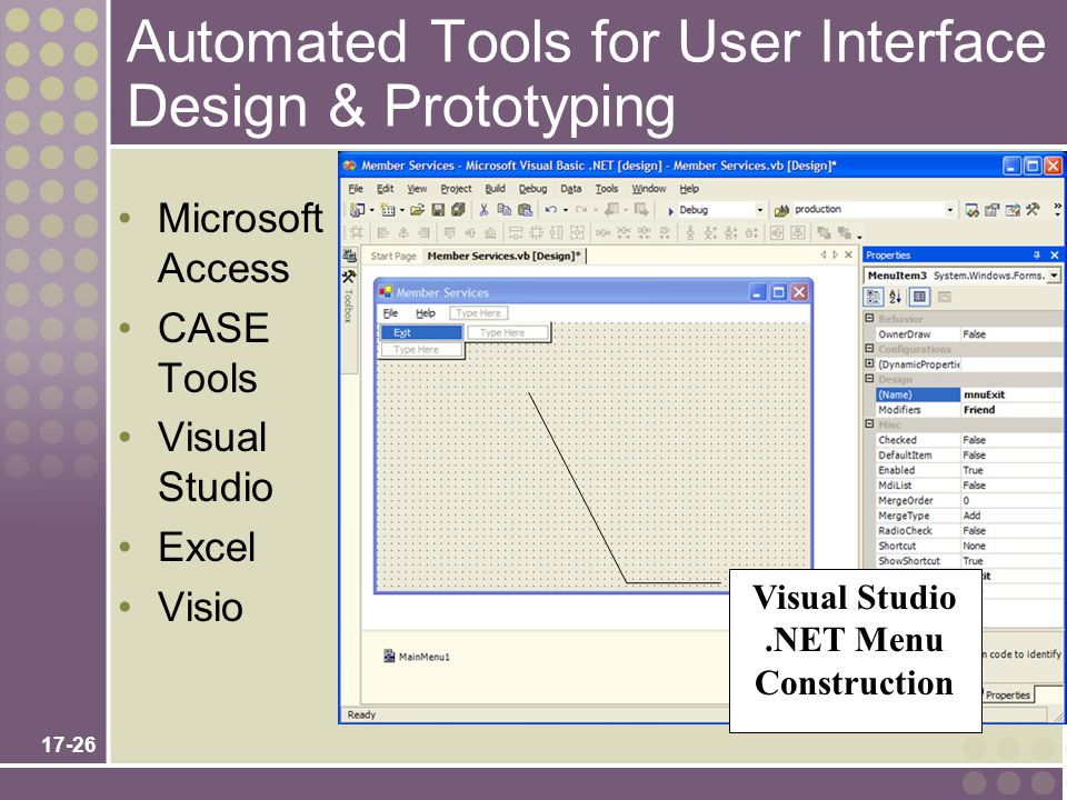 Automated Tools for User Interface Design & Prototyping