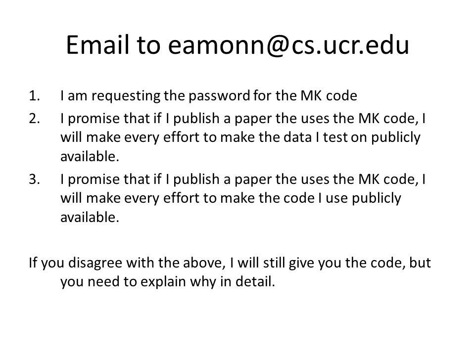 Email to eamonn@cs.ucr.edu