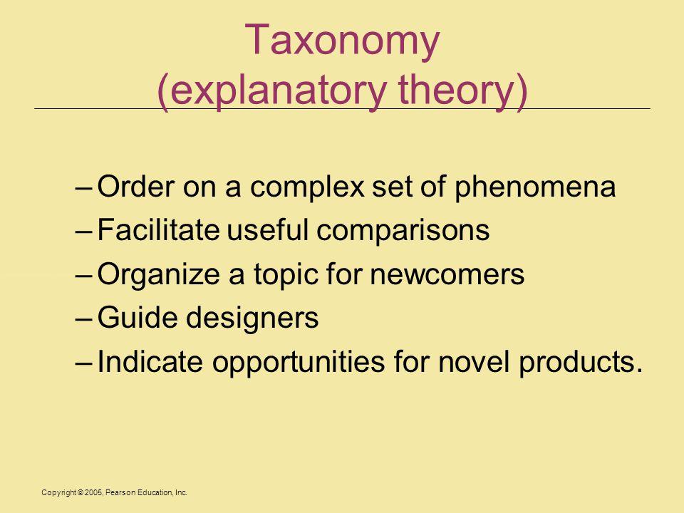 Taxonomy (explanatory theory)