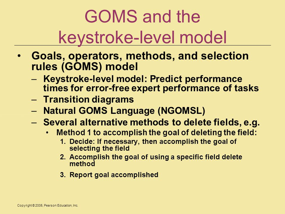GOMS and the keystroke-level model