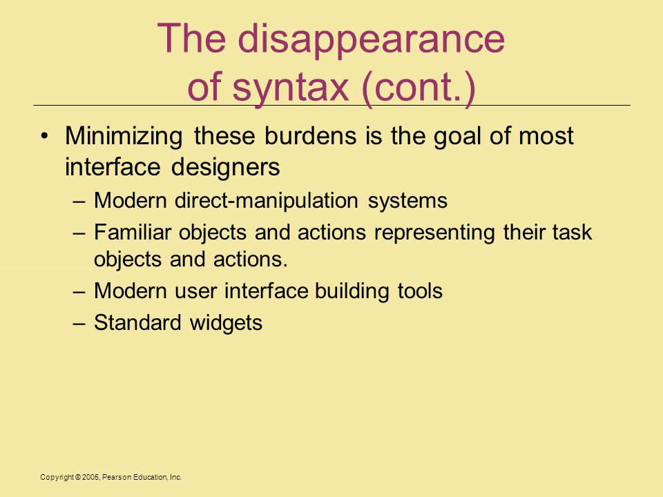 The disappearance of syntax (cont.)