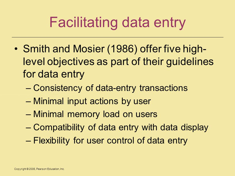 Facilitating data entry
