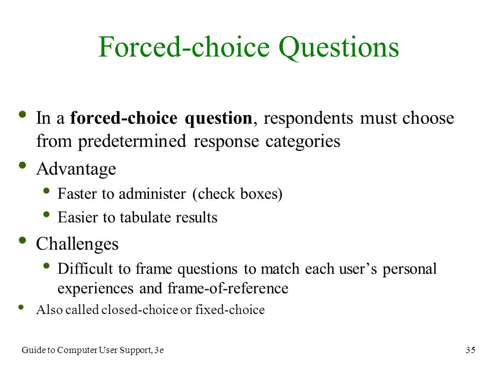 Forced-choice Questions